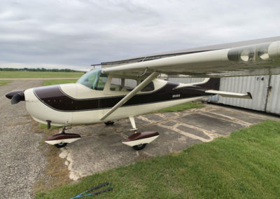 1958 Cessna 175 for sale, side 3/4 front view.